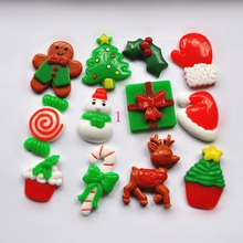 10pcs/Lot Lovely Flat Back Resin Christmas Decoration Botoes De Resina DIY Craft Resin Deer For DIY Decoration - Mixed 9 Deisgns