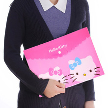 Kitty Cat Waterproof PVC Cartoon Document Bag A4 File Folder Stationery Filing Production.Office School Supplies.Random Color