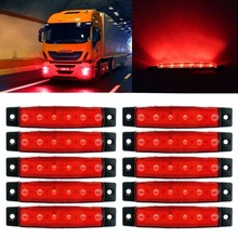 CYAN SOIL BAY 10X 6 LED Red Clearence Lamp Truck Bus Trailer Side Marker Indicators Light 12V 24V