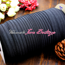 "5/8"" fold over elastic for hair tie or baby headband 030# black"