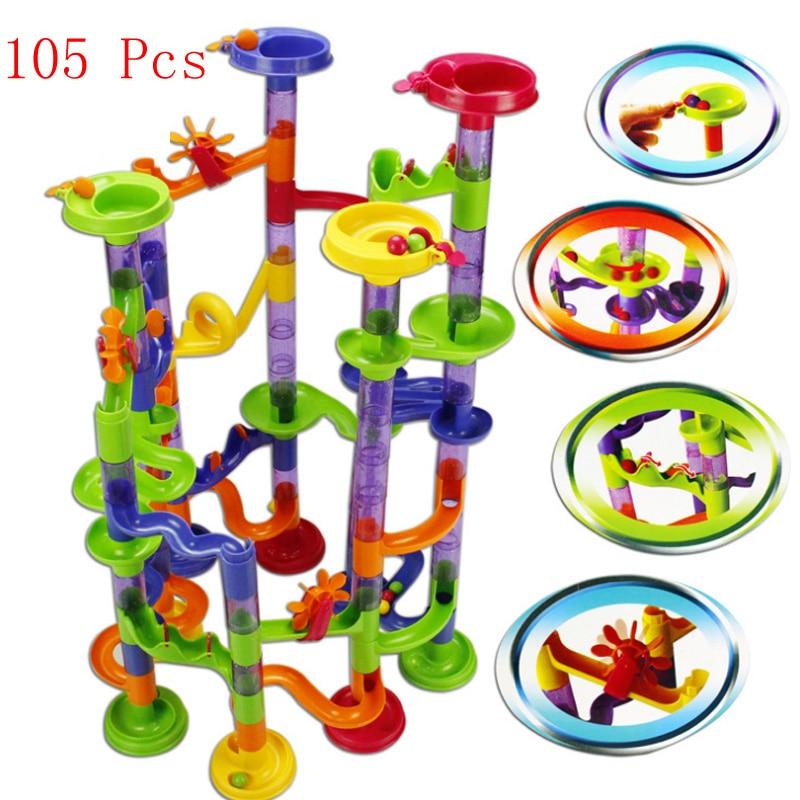 105PCS High Quality DIY Construction Marble Race Run Maze Balls Track Building Blocks Children Gift Baby Kids Toy Educational<br><br>Aliexpress