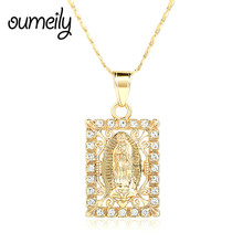 OUMEILY African Dubai Gold Color Jewelry For Women/Men Beads Figure Pendant Necklace Wedding Dress Jewellery Gift Accessories