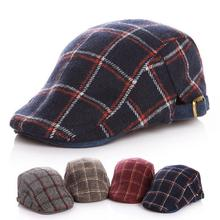 Classic Woolen Kids Beret Hats Flat Caps Handsome Plaid Baby Boy Winter Hat Accessories for 2-5 Years 1 Piece(China)