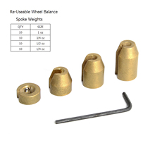 Reusable Motorcycle Wheel Balance Weights For Spoke Wheels(China)