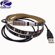 5050 RGB USB LED Strip TV Background Lighting Kit Cuttable with 3Key/17Key RF Controller 1M/2M Set Waterproof or Non waterproof