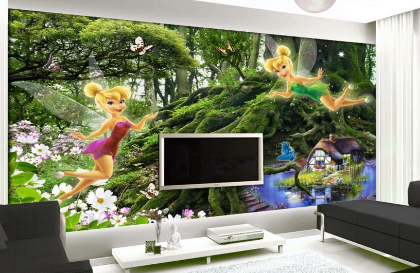 Customized wallpaper for walls 3 d for children elf forest 3d wall murals Non-woven 3d mural wallpaper<br><br>Aliexpress