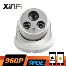 Buy XINFI NEW HD 1.3 MP POE dome camera CCTV IP camera P2P night vision IR cut Indoor network camera ONVIF 2.0 PC&Phone remote view for $30.78 in AliExpress store