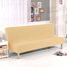 Stretch Sofa Cover No Handrails High Elastic Couch Cover Sofa Slipcovers Cheap Sofa Bed Covers For Livingroom Solid Color V35(China)