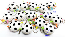 36x Plastic football quick Release Key holder carnival Novelty Gift Pinata bag Lucky Birthday party favor School Prize Filler