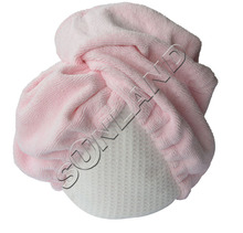 20pcs Large Size 1-pack Microfiber Hair Turban Wraps Head Hat Spa Cap Ultra Absorbent  Fast Drying