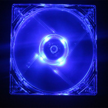 2Pcs/Lot Blue LED Case Fan 12V 4Pin 80mm 80x25mm For Computer PC CPU Cooling Cooler(China)
