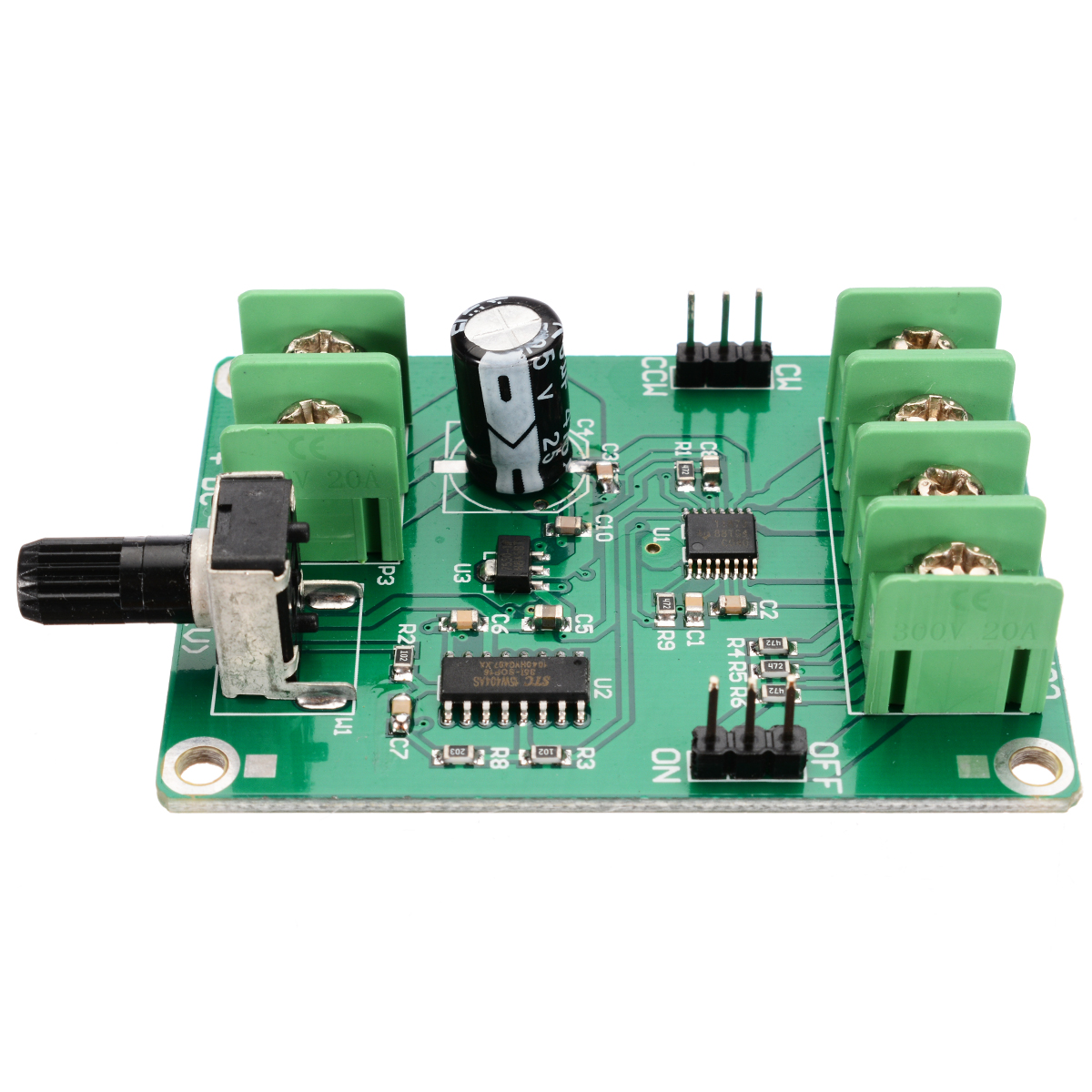 New 5V-12V Dual H-Bridge DC Brushless Motor Driver Module Motor Drive Controller Board For 3/4 Wire Hard Drive Motor