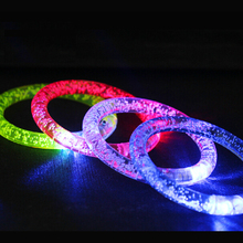 Free shipping colorful changing LED bracelet Light up Bracelet flashing Acrylic glowing bracelet toys party decoration supplies