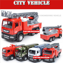 1:50 scale simulation city vehicle military swat Freight Fire engine Ladder truck diecast model pull back alloy toys for kids