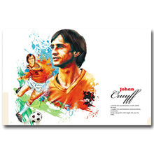 NICOLESHENTING Johan Cruyff Football Legend Art Silk Poster Print 13x20 inches Netherlands Soccer Star Pictures Room Decor 009