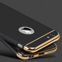 Cell Phone Cases Luxury 3 in 1 Electroplating Metal Frame + Phone Back Case Cover for iphone 5 5s SE 6 6s Plus Shell Coque
