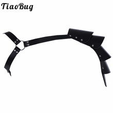 Buy TiaoBug High Quality Faux Leather Sexy Mens Body Chest Harness Bondage Adjustable Shoulder Armor Rivets BDSM Men Lingerie