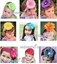 2014 hot sell cute baby Daisy big flower headbands