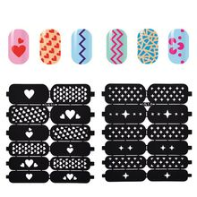 1 Pcs Print Nail Art Sticker DIY Stencil Stickers For 3D Nails 24 Design Easy Stamping Template Manicure Supplies JH373