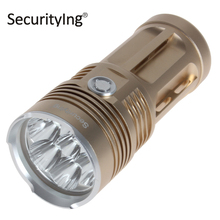 SecurityIng 4900LM Super Bright LED Flashlight Waterproof Stocky 3 Mode 7x XM-L2 U2-1A LED Flash Light Torch for Outdoor Sports