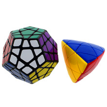 Kingcube Speedcubing Bundle ShengShou Mastermorphix Stickerless & Shengshou Aurora Megaminx Black Magic cube Puzzle