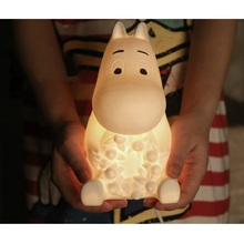 Ceramic cotton bedside sculptures lamp white Finland moomin home decorative table lamp Cute lantern Children decor Rabbit LED