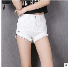 2016 Brand New Summer Women Black/White Korean Slim Hole Summer Casual Shorts Female Leisure Shorts Bermuda Feminina Short J1326(China)