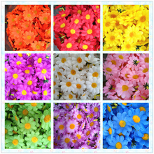 100Pcs/set ing Sunflower Artificial Silk Flower Heads for wedding birthday party decor wholesale