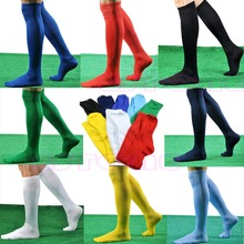 New Mens Women Sports Over Knee Football Soccer Hockey Rugby Stocking Long Socks(China)