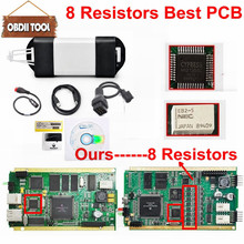 Newest V169 Best Pcb With 8 Resistors Renault Can Clip CYPRESS AN2136SC or AN2135SC Chip Nec Relays OBD2 Diagnostic Tool(China)