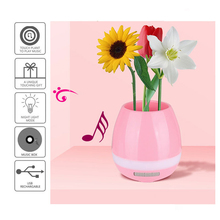 Smart LED Bluetooth Music Vase Wireless Speaker Real Plant Touch Sensing Flower Pot USB Charge Altavoces Haut-parleu night lamps