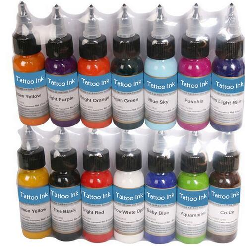 Tattoo Inks 14 Colors 30ml/bottle Tattoo Pigment Inks Set For Body Tattoo Art Kit Free Shipping by nani 6