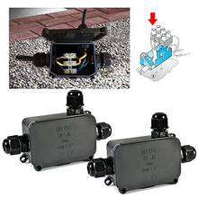2PCS Newest Cover Waterproof Junction Outdoor Weatherproof Plastic Enclosure Cable Connect Box --M25(China)