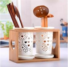 Ceramic Spoon Fork Knife Chopsticks Hollow Leaky Holder Dinnerwear Set Spoon Rests No Spoon Chopstick(China)