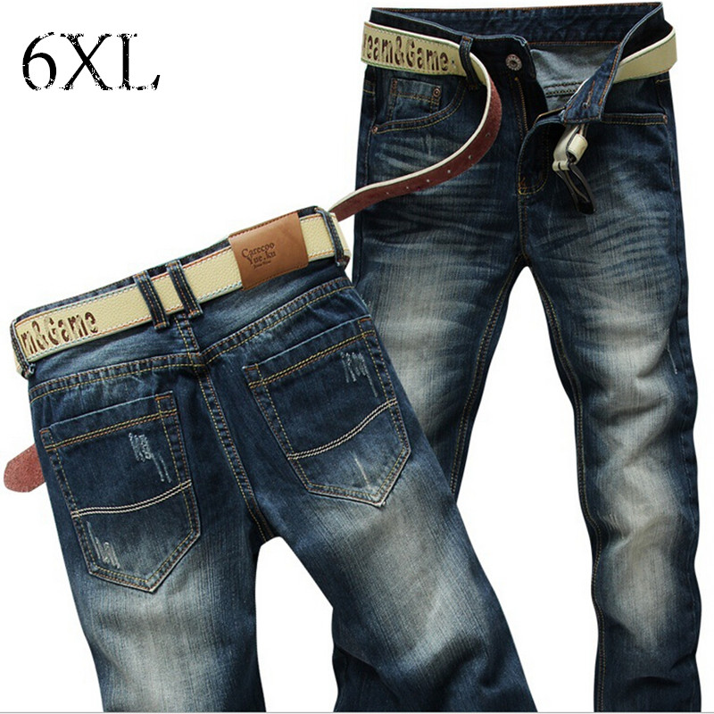 6 EXTRA LARGE Hot High Quality Fashion Casual Mens Jeans Famous Brand Jeans Men Jeans  Trousers Pants Men Jeans Free ShippingОдежда и ак�е��уары<br><br><br>Aliexpress