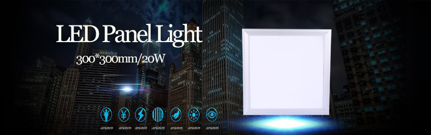 LED Panel Light 300x300mm Real Watts 20W Square Thin Downlight Panel Leds Ceilling Light 1600lm Cold White for Bathroom Office