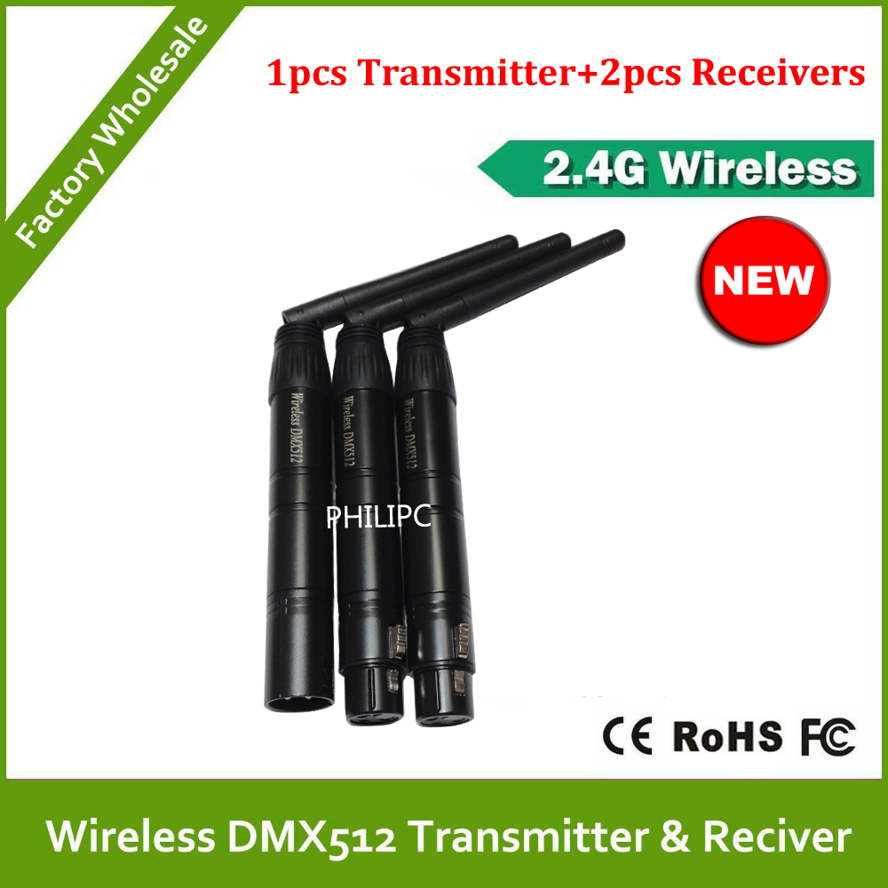 DHL Free Shipping  2.4G Wireless DMX512 Signal Controller Male Female XLR 3pins DMX Wireless Transmit Receiver For Stage Lights<br>
