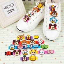 10PCS Mix Cartoon Models PVC Shoe Decorations for Children Shoes Lace, Kids Best Gift Wholsales Shoe Accessories(China)