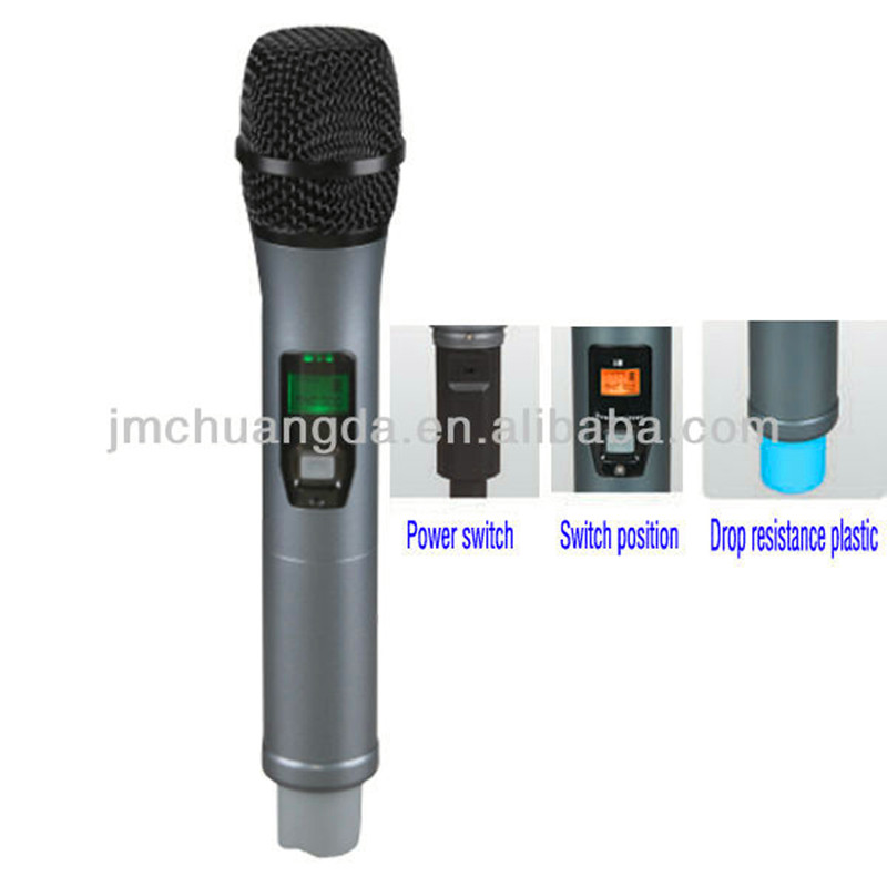 Professional UHF Karaoke Wireless Microphone with Headset/Lavalier/Conference Mic for Customers Choice 4*100 channels can choose
