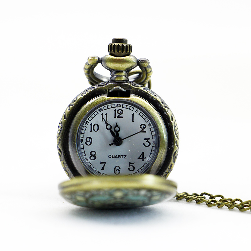 PS567-Vintage-Jewelry-New-Colorful-Enamel-Rhinestone-Movt-Flower-Pattern-Pocket-Watch-Small-Size (2)