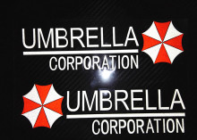 2pc/lot anime Umbrella corporation stickers  Resident Evil  reflective windshield decals car stickers vinyl
