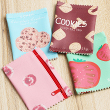 1PC Pencil Bag Snacks Coin Wallet Mini Purse Money Bag Key Card Holder PU Zipper Pouch Gift School Stationery Office Supplies(China)