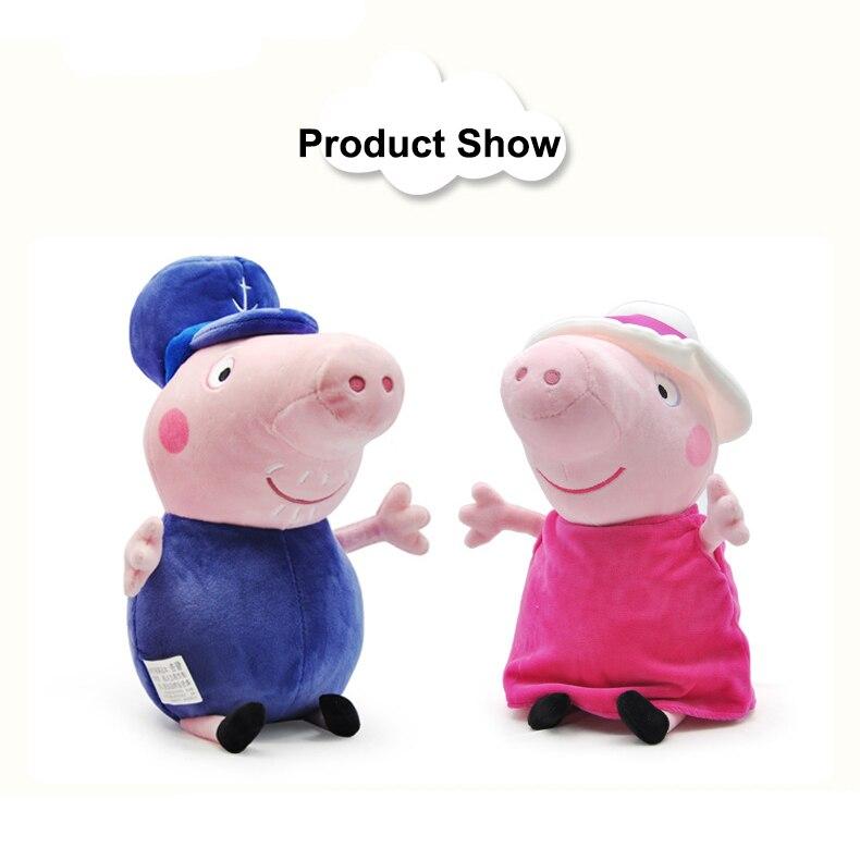 19cm Peppa Pig Tier gefüllt Plüsch Spielzeug Familie Freund Schwein Party Puppen