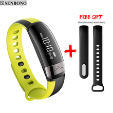 SENBONO M6 bluetooth sport smart bracelet fitness band support blood pressure heart rate Pedometer IP67 wristband