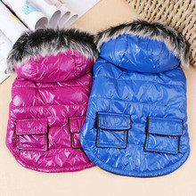 Winter Dog Clothes Down Jacket French Bulldog Dog Coat Pet Costume Warm Outwear Clothing for Dogs(China)