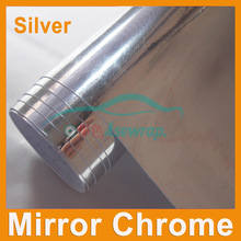 Free shipping retail high quality mirror Chrome Vinyl Car wrapping Sticker Chrome mirror car decoration Vinyl with air Channels