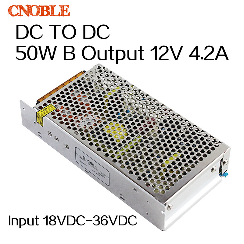 50W 18VDC~36VDC to 12VDC 4.2A SD DC TO DC Double Group Single Output Switching power supply DC-DC Converter<br>