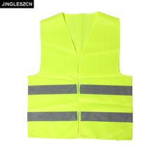 JINGLESZCN 2PCS Reflective Safety Vest Visibility Security Jacket Traffic Running Work Wear Uniforms Night Protection Clothing(China)