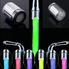 1Pcs Water Faucet Light 7 Colors Changing Glow Shower Stream Tap LED Light LED Light Shower Tap