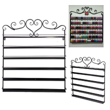 Homdox Heart Metal Nail Polish Display Wall Rack Fit Up To 108 Bottles Organizer Storage Display Holder Storage Shelf N20*(China)
